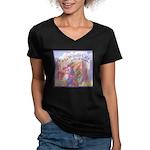 Windy City Women's V-Neck Dark T-Shirt