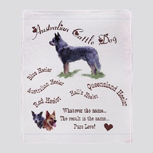 Austalian Cattle Dog Throw Blanket
