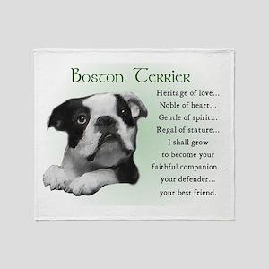Boston Terrier Gifts Throw Blanket
