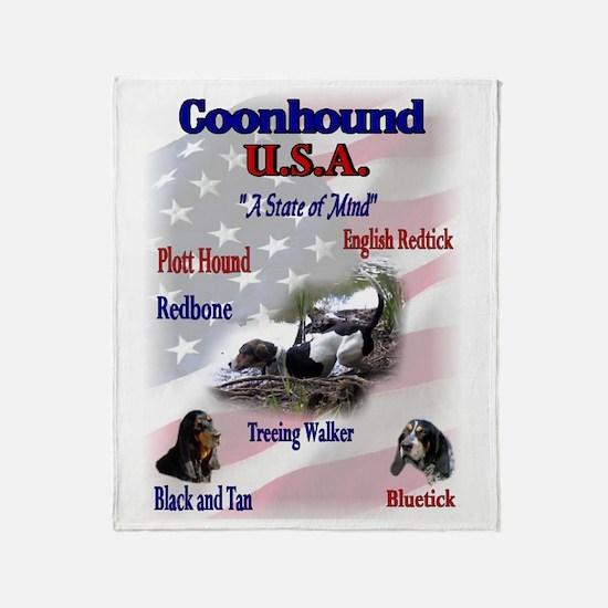 Coonhound USA Throw Blanket