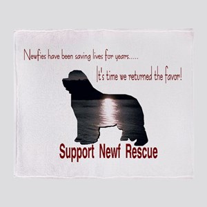 Support Newf Rescue Throw Blanket