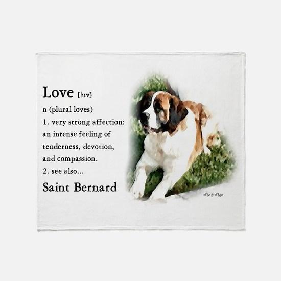 Saint Bernard Gifts Throw Blanket