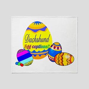 Easter Dachshund Throw Blanket
