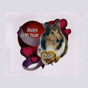 Always In My Heart_ Collie Throw Blanket