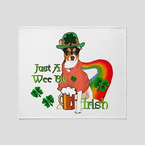 Rat Terrier St Paddy Throw Blanket