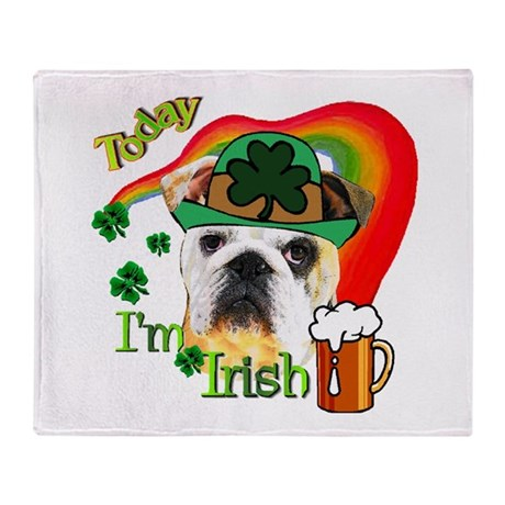 english bulldog blanket paddys english bulldog throw blanket by shopspringdale 3041