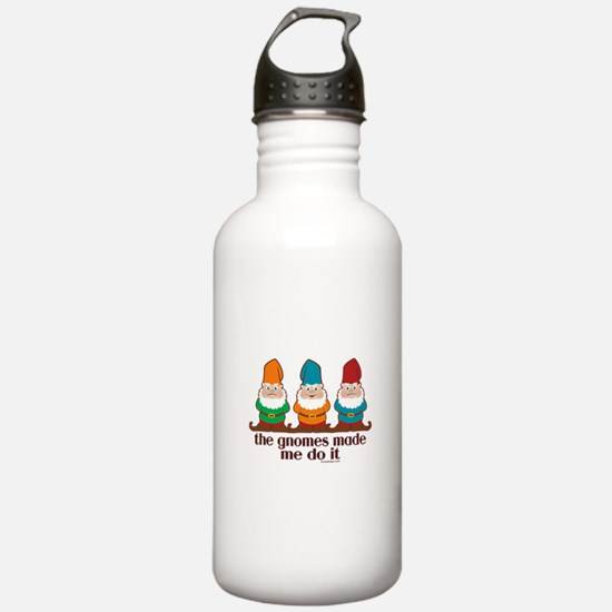 The Gnomes Made Me Do It Water Bottle