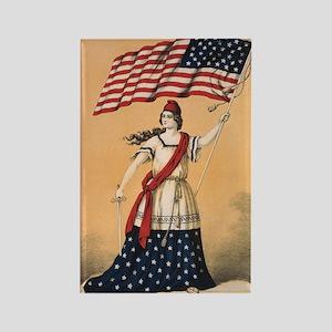Lady Liberty Rectangle Magnet