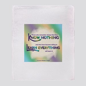 ACIM-Know Nothing Throw Blanket