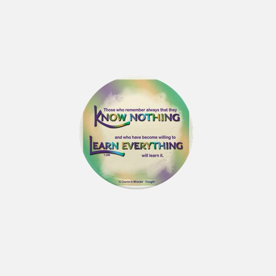 ACIM-Know Nothing Mini Button