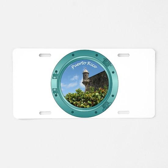Puerto Rico Porthole Aluminum License Plate