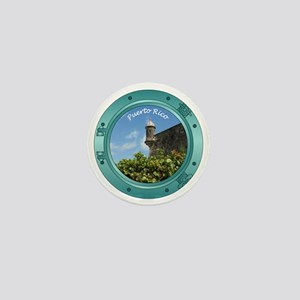 Puerto Rico Porthole Mini Button