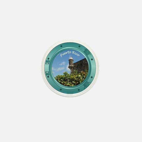 Puerto Rico Porthole Mini Button