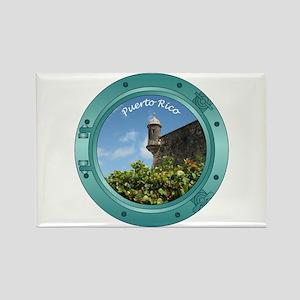 Puerto Rico Porthole Rectangle Magnet