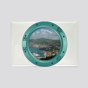 St Thomas Porthole Rectangle Magnet