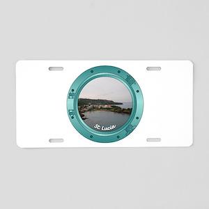 St Lucia Porthole Aluminum License Plate