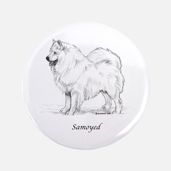 "Samoyed 3.5"" Button"