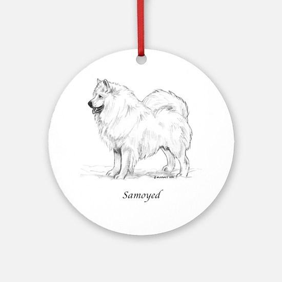 Samoyed Ornament (Round)