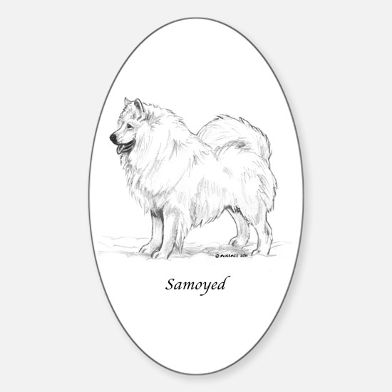 Samoyed Sticker (Oval)