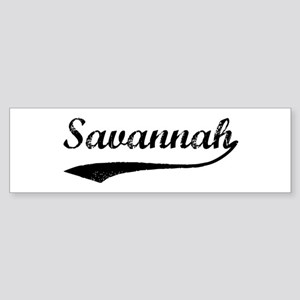 Vintage Savannah Bumper Sticker