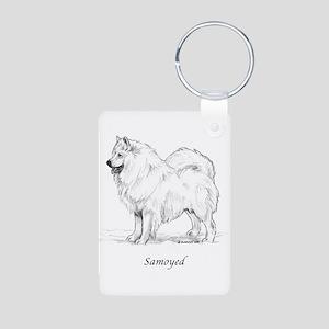Samoyed Aluminum Photo Keychain