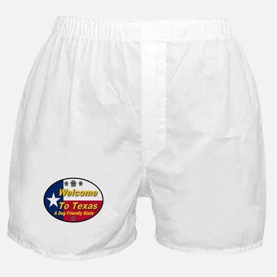 Welcome To Texas A Dog Friendly State Boxer Shorts