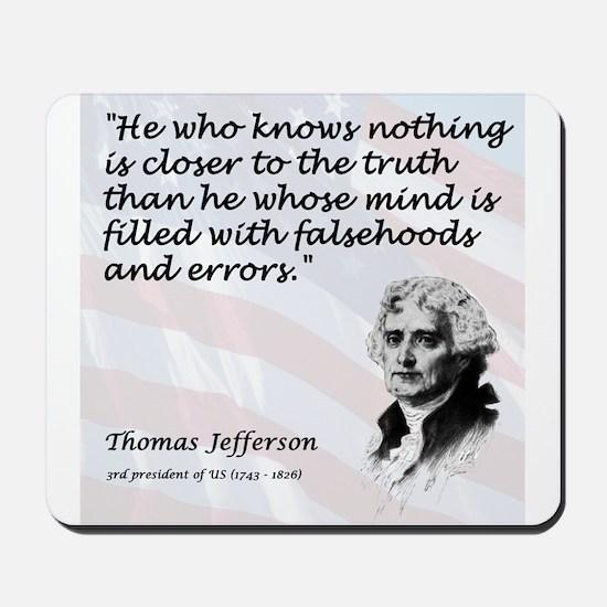 Jefferson on... Truth Mousepad