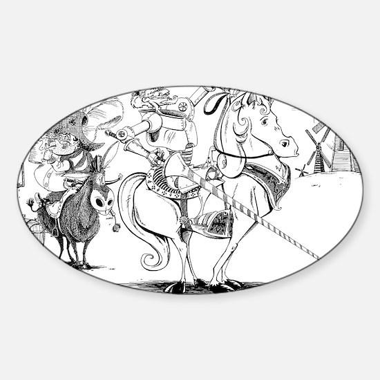 Don Quixote Sticker (Oval)