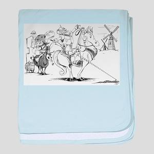 Don Quixote baby blanket