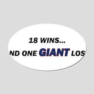 one GIANT loss 22x14 Oval Wall Peel