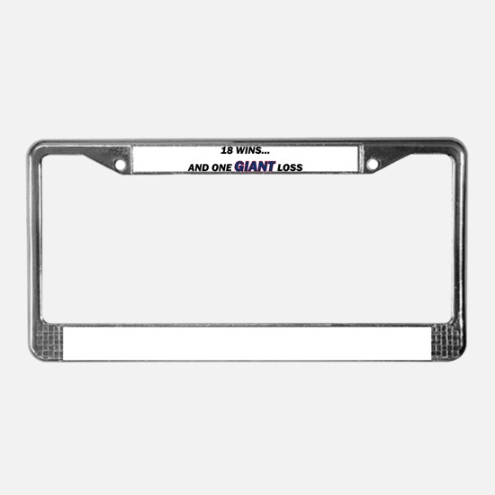 one GIANT loss License Plate Frame