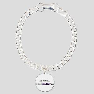 one GIANT loss Charm Bracelet, One Charm