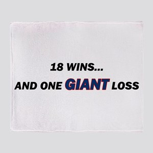one GIANT loss Throw Blanket