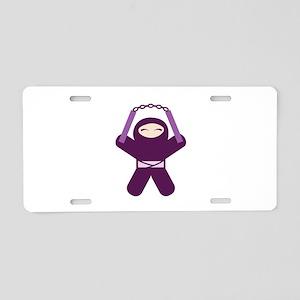 Nunchuck Ninja! Aluminum License Plate