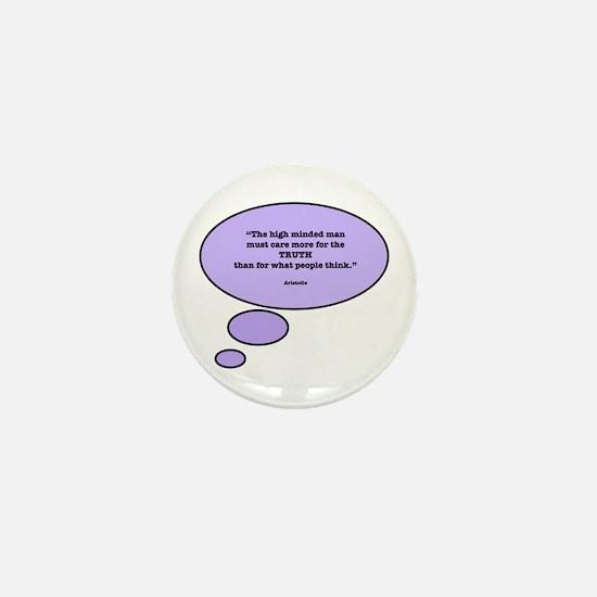 Aristotle & Truth Mini Button