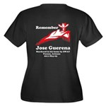 Remember Jose-2 Women's Plus Size V-Neck Dark T-Sh