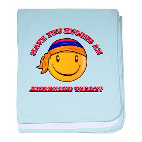 Have you hugged an Armenian today? baby blanket