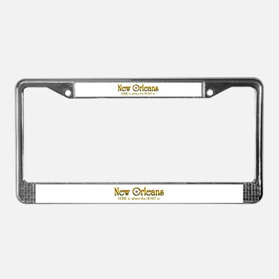 My heart is in New Orleans License Plate Frame