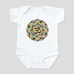 Rainbow Lotus Aum Infant Bodysuit