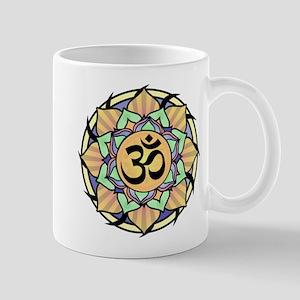 Rainbow Lotus Aum Mug