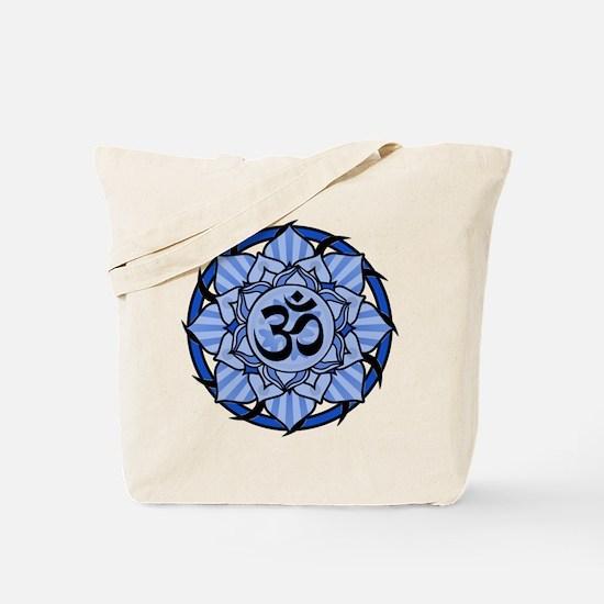 Aum Lotus Mandala (Blue) Tote Bag