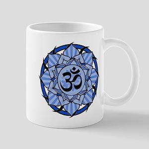 Aum Lotus Mandala (Blue) Mug