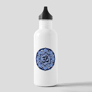 Aum Lotus Mandala (Blue) Stainless Water Bottle 1.