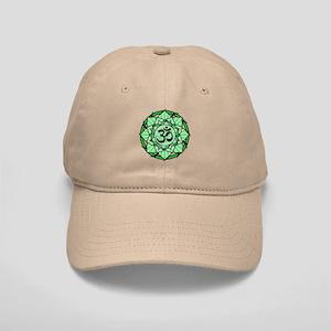 Aum Lotus Mandala (Green) Cap