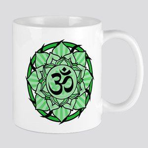 Aum Lotus Mandala (Green) Mug