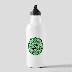Aum Lotus Mandala (Green) Stainless Water Bottle 1