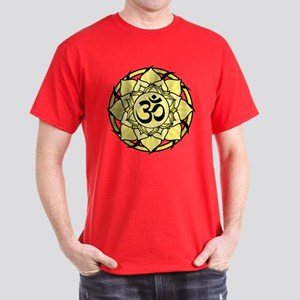 Aum Lotus Mandala (Yellow) Dark T-Shirt