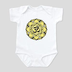 Aum Lotus Mandala (Yellow) Infant Bodysuit