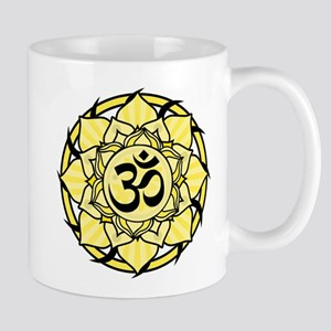 Aum Lotus Mandala (Yellow) Mug