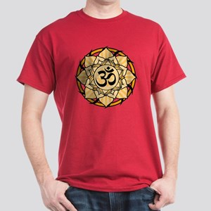 Aum Lotus Mandala (Orange) Dark T-Shirt